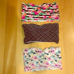 PINK bandeau lot! All 3 included!